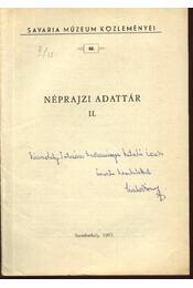 Néprajzi adattár II. - Régikönyvek