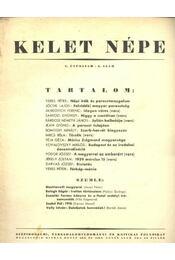 Kelet népe - V. évfolyam, 8. szám - Régikönyvek