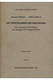 Die Wortklassen des Deutschen - Régikönyvek