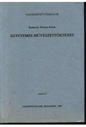 Egyetemes művészettörténet - Régikönyvek