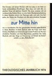 Theologisches Jahrbuch 1974 - Régikönyvek