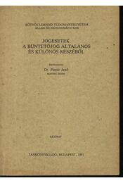 Jogesetek a büntetőjog általános és különös részéből - Régikönyvek