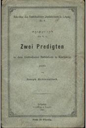 Zwei Predigten - Régikönyvek