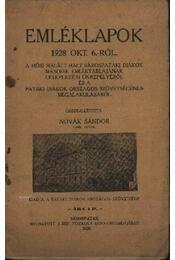 Emléklapok 1928. okt. 6.-ról - Régikönyvek