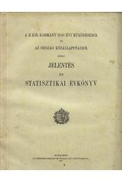 A M. Kir. Kormány 1940. évi működéséről...statisztikai könyv - Régikönyvek