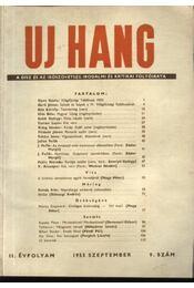Uj Hang 1953/9 - Régikönyvek