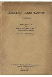 Lélektani tanulmányok VII. kötet - Régikönyvek