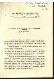 A vöröshasú unka zöldszínü változata - Régikönyvek