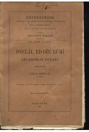 Dselal ed-din rumi négysoros versei - Régikönyvek
