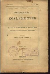 Nyelvtudományi közlemények XLIII. kötet 1-4. füzet - Régikönyvek
