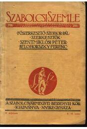 Szabolcsi szemle IV. évfolyam 8-10. szám - Régikönyvek
