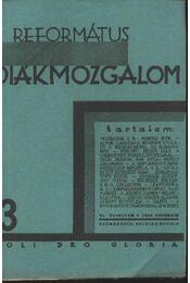 Református Diákmozgalom 1929. november - Régikönyvek