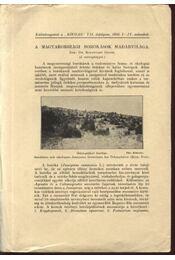 A magyarországi borókások madárvilága - Régikönyvek
