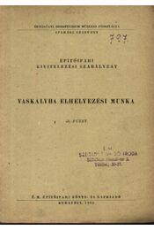 Vaskályha elhelyezési munka - Régikönyvek