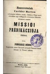 Észrevételek Czelder Márton Missioi Prédikácziója fölött - Régikönyvek