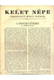 Kelet népe - VI. évfolyam, 14. szám - Régikönyvek