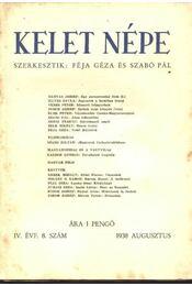 Kelet népe IV. évfolyam, 8. szám - Régikönyvek