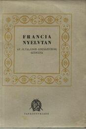 Francia nyelvtan - Régikönyvek