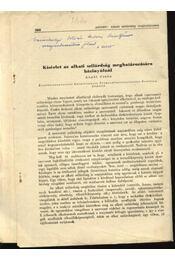 Kísérlet az alkati szilárdság meghatározására házinyúlnál - Régikönyvek