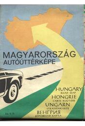 Magyarország autóúttérképe (1963) - Régikönyvek