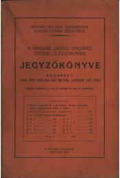 A magyar orvosi nagyhét ötödik ülésszakának jegyzőkönyve - Régikönyvek