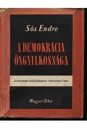 A demokrácia öngyilkossága - Régikönyvek