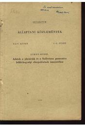 Adatok a planáriák és sadleriana pannonica Bükk-hegységi elterjedésének ismeretéhez - Régikönyvek