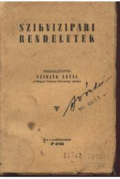 Szikvizipari rendeletek - Régikönyvek