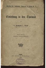 Einleitung in den Thalmud - Régikönyvek