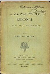 A magyar nyelv rokonai - Régikönyvek