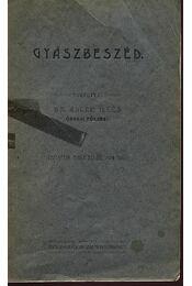 Gyászbeszéd - Régikönyvek