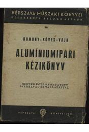 Alumíniumipari kézikönyv - Régikönyvek