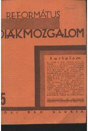 Református Diákmozgalom 1931. január - Régikönyvek