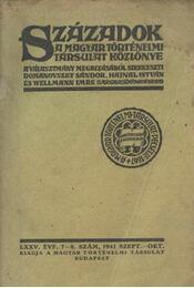 Századok LXXV. évfolyam, 7-8. szám - Régikönyvek