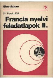 Francia nyelvi feladatlapok II. - Régikönyvek