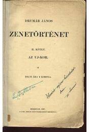 Zenetörténet II. kötet - Régikönyvek