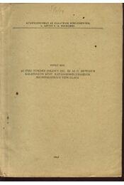 Az unio tumidus solidus zel. és az u. pictorum balatonicus küst. határozóbélyegeinek megbízhatósági vizsgálata - Régikönyvek