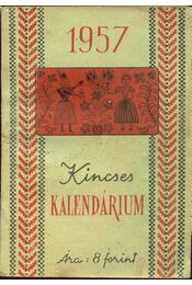 Kincses Kalendárium 1957 - Régikönyvek