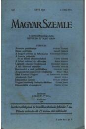 Magyar Szemle 1936 XXVI. kötet 2.(102)szám. - Régikönyvek