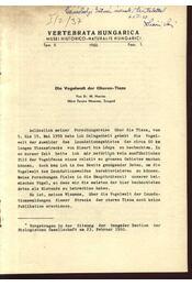 Die Vogelwelt der Oberen-Tisza - Régikönyvek