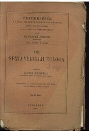 De Sexta Vergilii ecloga - Régikönyvek