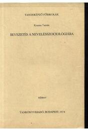 Bevezetés a nevelésszociológiába - Régikönyvek