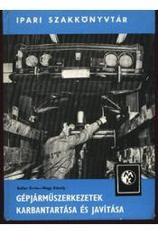 Gépjárműszerkezetek karbantartása és javítása - Régikönyvek