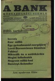 A Bank 1938. március - Régikönyvek