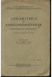 Logaritmus és kamatos-kamattáblák - Régikönyvek