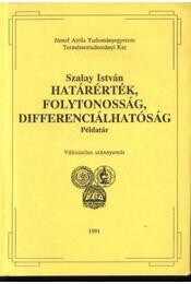 Határérték, folytonosság, differenciálhatóság - Régikönyvek