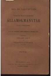 Név- és tárgymutató a török-magyarkori államokmánytár I-VII. köteteihez - Régikönyvek