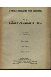 Közszolgálati jog - Régikönyvek