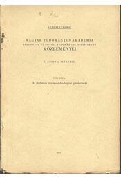 A Balaton termelésbiológiai problémái - Régikönyvek