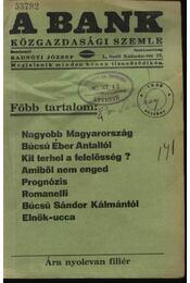 A Bank 1938. október - Régikönyvek